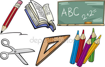 depositphotos 30957341 stock illustration school objects cartoon illustration set